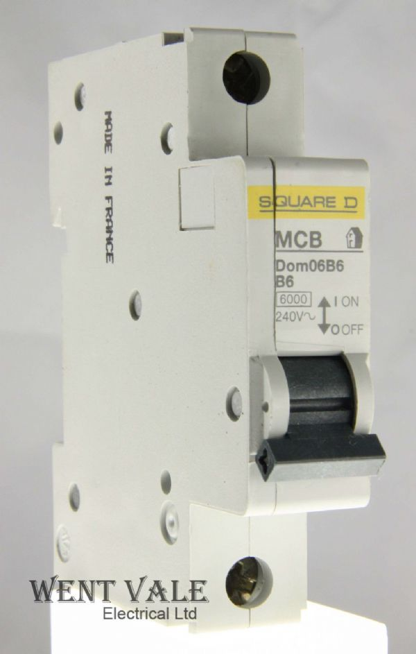 Square D Domae - DOM06B6 - 6a Type B Single Pole MCB Used